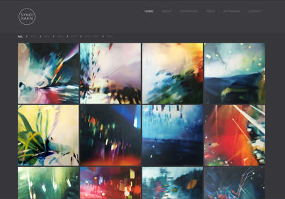 Syndi Kahn: Artist – Website Development